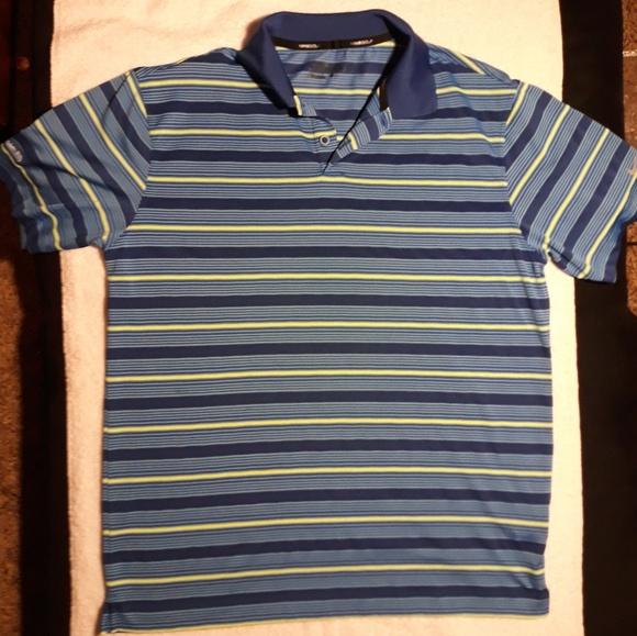 58292925 Nike Shirts | Golf Drifit Mens Striped Polo Tshirt Medium | Poshmark